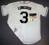 Evan Longoria Hand Signed Rays 2008 World Series Authentic White Jersey