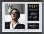"Elvis Presley - ""Elvis at the Mic"" Music & Memories Framed Photo"