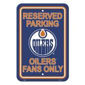 Edmonton Oilers Parking Sign