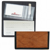 Edmonton Oilers Leather/Nylon Embossed Checkbook Cover