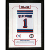 Eddie Giacomin #1 Retired Number NY Rangers 14x20 Framed Collage w/ Nameplate