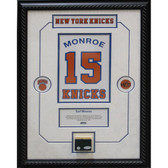 Earl Monroe Retired Number NY Knicks Championship Court Piece 14x20 Framed Collage w/ Nameplate