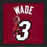 Dwyane Wade Miami Heat 20x20 Framed Uniframe Jersey Photo