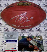 Drew Brees Hand Signed Super Bowl XLIV Official NFL Football AFF1007-BREES-MVP-PSA