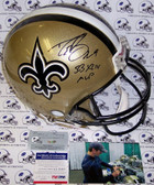 Drew Brees Hand Signed New Orleans Saints Authentic Helmet APRONS-BREES-MVP-PSA