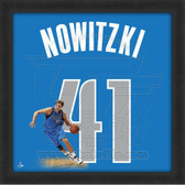 Dirk Nowitzki Dallas Mavericks 20x20 Framed Uniframe Jersey Photo