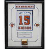 Dick McGuire Retired Number NY Knicks Championship Court Piece 14x20 Framed Collage w/ Nameplate