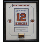 Dick Barnett Retired Number NY Knicks Championship Court Piece 14x20 Framed Collage w/ Nameplate
