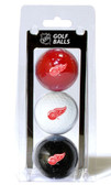 Detroit Red Wings 3 Pack of Golf Balls