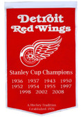 "Detroit Red Wings 24""x36"" Wool Dynasty Banner"