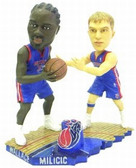 Detroit Pistons Darko Milicic & Ben Wallace Dual Bobblehead