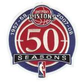 Detroit Pistons 50th Anniversary Patch
