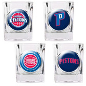 Detroit Pistons 4pc Square Shot Glass Set
