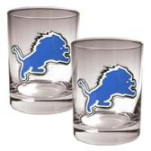 Detroit Lions 2pc Rocks Glass Set