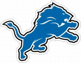 "Detroit Lions 12"" Logo Car Magnet - 2009 Throwback Style"