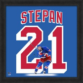 Derek Stepan New York Rangers 20x20 Framed Uniframe Jersey Photo