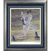 Derek Jeter Mosaic Vertical Framed 20x24 Photo (Ltd of 1000)