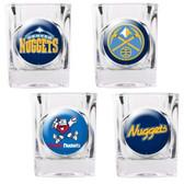 Denver Nuggets 4pc Square Shot Glass Set