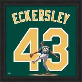 Dennis Eckersley Oakland Athletics 20x20 Framed Uniframe Jersey Photo