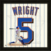 David Wright New York Mets 20x20 Framed Uniframe Jersey Photo