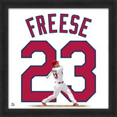 David Freese St. Louis Cardinals 20x20 Framed Uniframe Jersey Photo