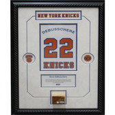Dave DeBusschere Retired Number NY Knicks Championship Court Piece 14x20 Framed Collage w/ Nameplate
