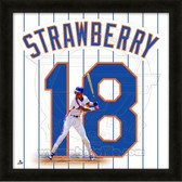Darryl Strawberry New York Mets 20x20 Framed Uniframe Jersey Photo