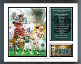 Dan Marino Miami Dolphins Hall Of Fame Class Of 2005 Milestones & Memories Framed Photo