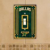 Dallas Stars Art Glass Switch Cover