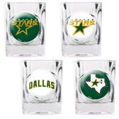 Dallas Stars 4pc Square Shot Glass Set