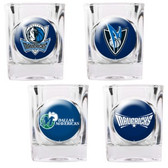 Dallas Mavericks 4pc Square Shot Glass Set