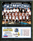 Dallas Mavericks 2011 NBA Finals Team Championship Plaque