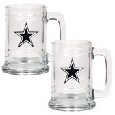 Dallas Cowboys 2pc Glass Tankard Set