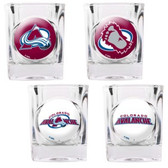 Colorado Avalanche 4pc Square Shot Glass Set