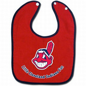 Cleveland Indians Baby Bib - Two-Toned Snap