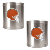 Cleveland Browns 2pc Stainless Steel Can Holder Set CZCZ2004-7