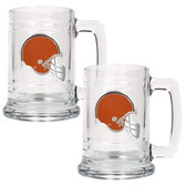 Cleveland Browns 2pc Glass Tankard Set