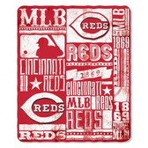 Cincinnati Reds 50x60 Fleece Blanket - Strength Design