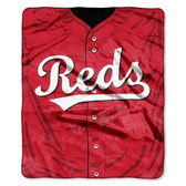 "Cincinnati Reds 50""x60"" Royal Plush Raschel Throw Blanket - Jersey Design"