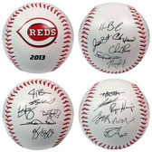 Cincinnati Reds 2013 Team Roster Signature Ball