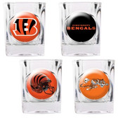 Cincinnati Bengals 4pc Collector's Shot Glass Set GSSC4PK2007-35