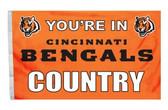 Cincinnati Bengals 3'x5' Country Design Flag