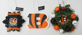 Cincinnati Bengals 3 Piece Christmas Ornament Box Set