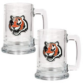 Cincinnati Bengals 2pc Glass Tankard Set