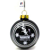 Chicago White Sox Two Sided Glass Ball Ornament