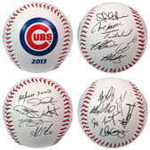 Chicago Cubs 2013 Team Roster Signature Ball