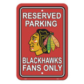Chicago Blackhawks Parking Sign