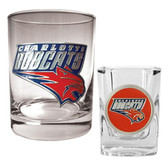 Charlotte Bobcats Rocks and Shot Glass Set