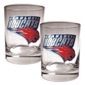 Charlotte Bobcats Rocks Glass Set