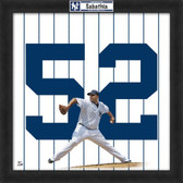 CC Sabathia New York Yankees 20x20 Framed Uniframe Jersey Photo